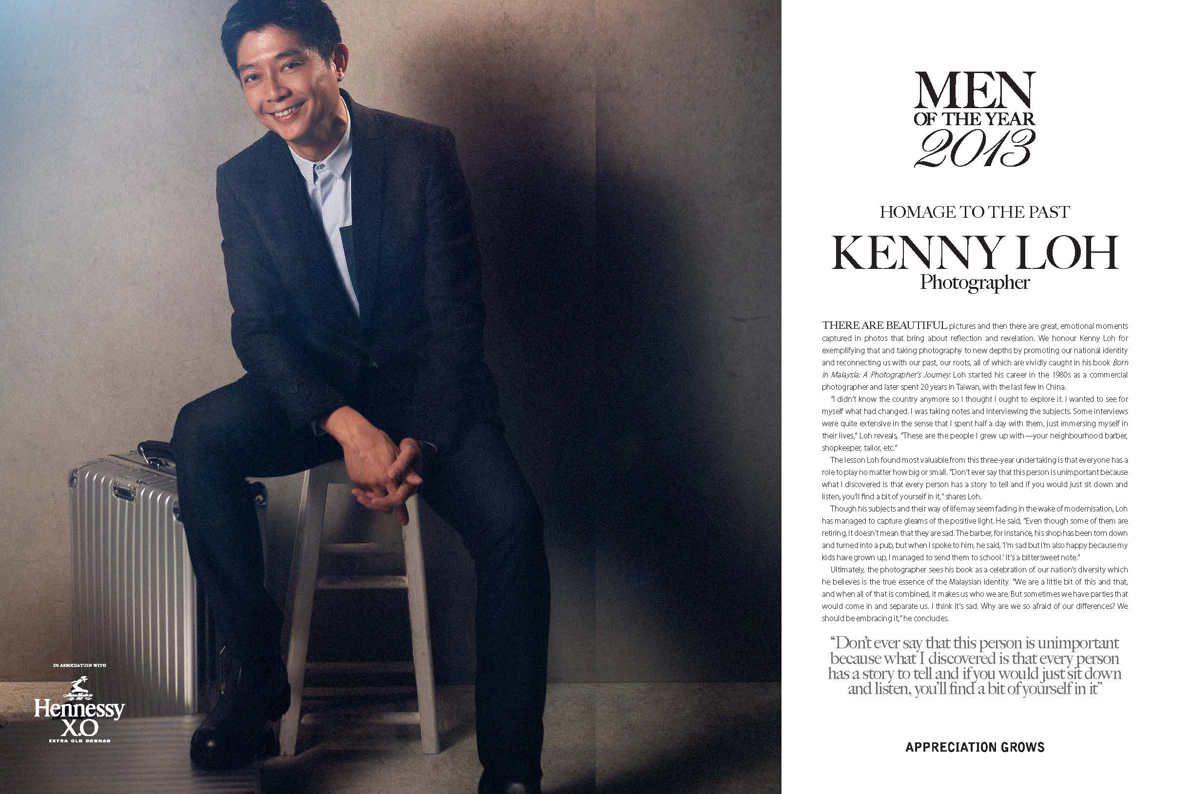 My page in the December 2013 issue of Augustman