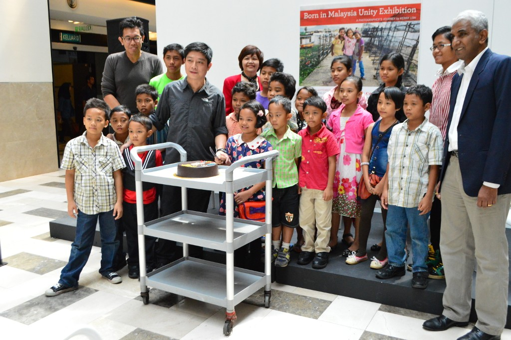 The Orang Asli kids from SEMOA who were invited for the exhibition