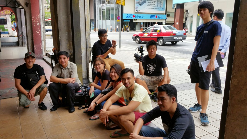 Camped outside the Junk Book Store in Jalan Tun H.S Lee
